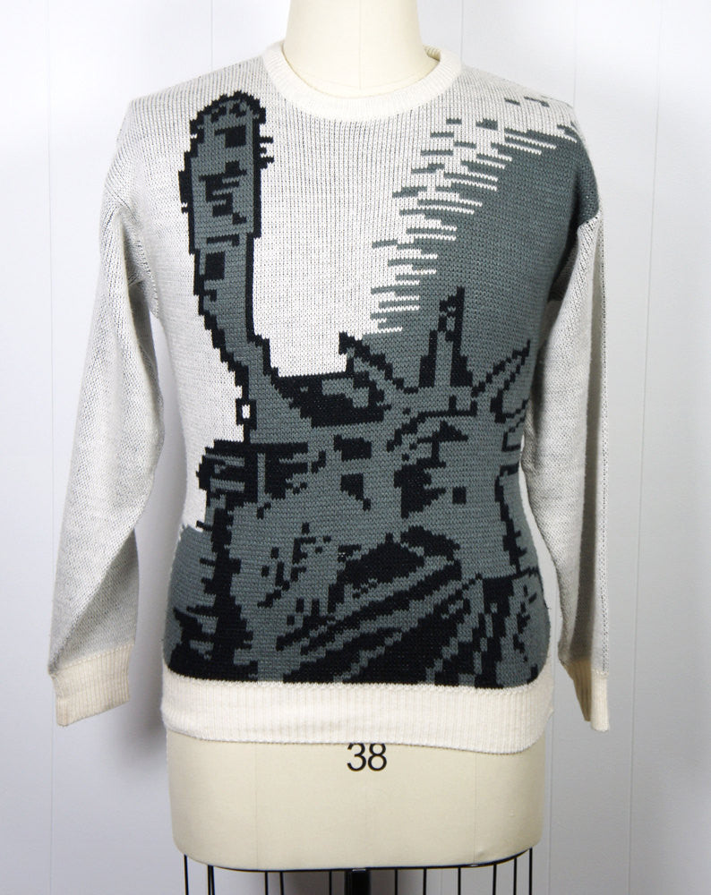 1980's Statue of Liberty Sweater, Size M