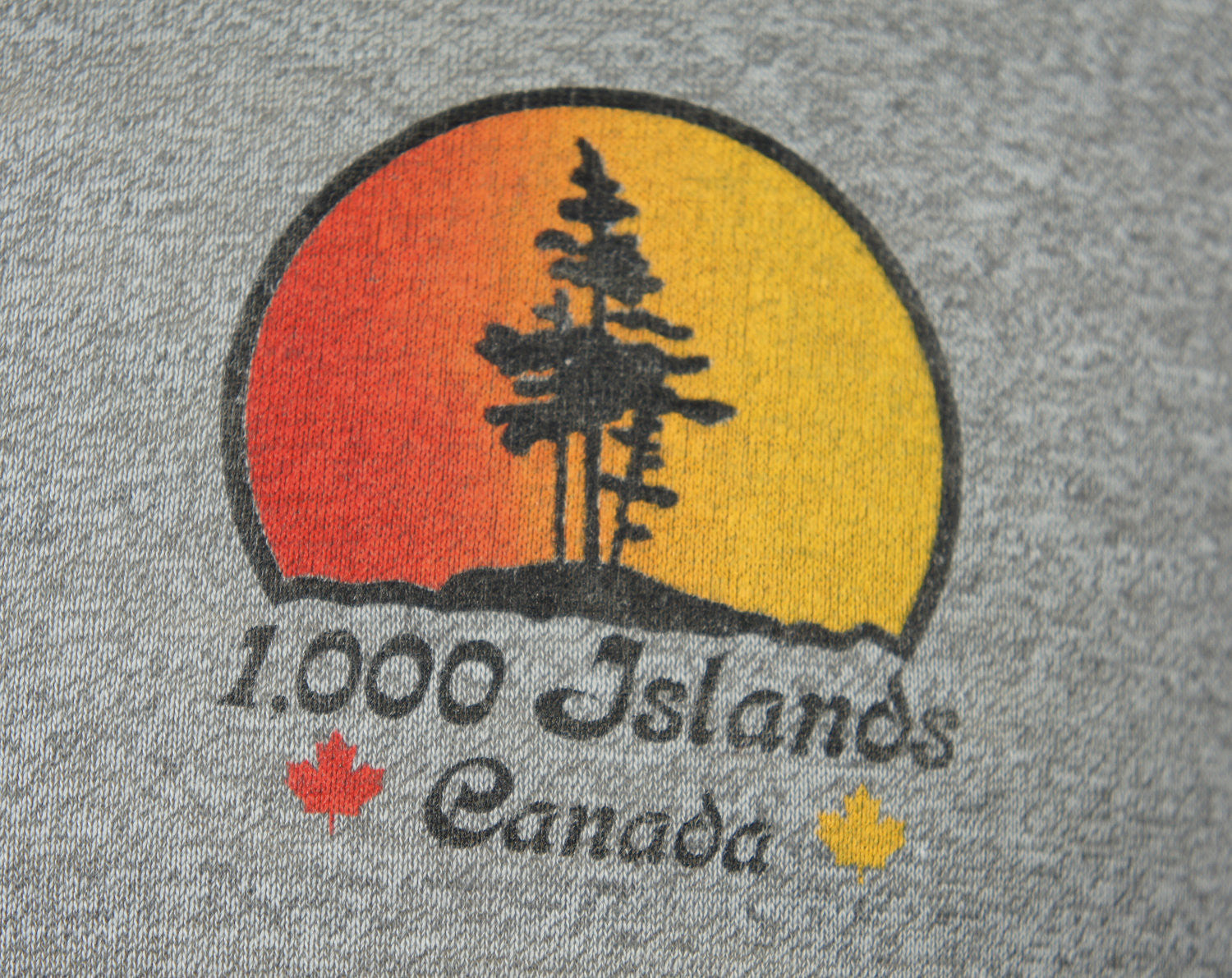 1970's 1,000 Islands Canada Heather Ringer T-Shirt - Size M
