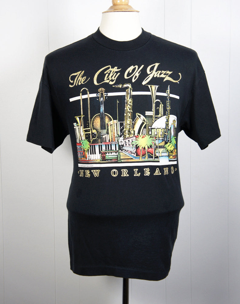 1980's New Orleans T-Shirt - The City of Jazz, Size L