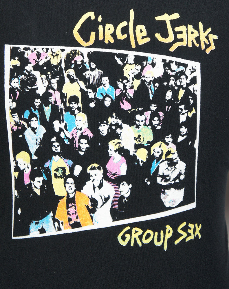 Circle Jerks Band T-Shirt - Group Sex, Size L