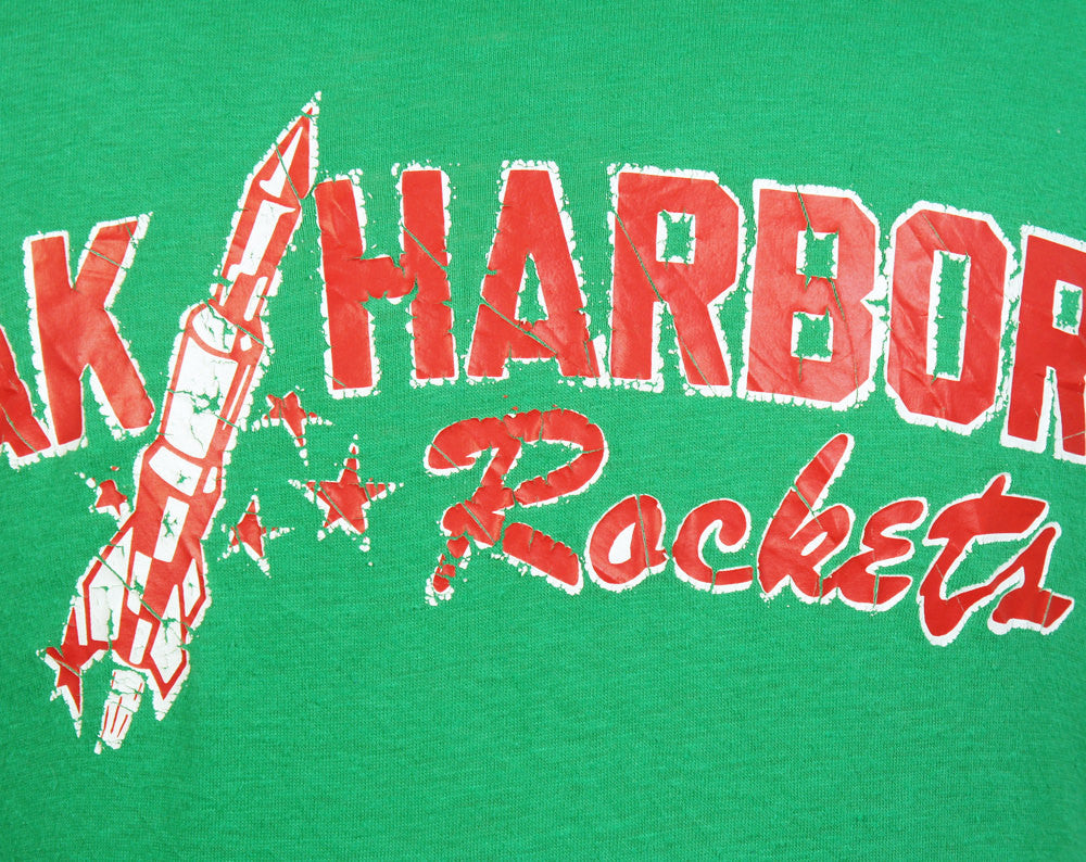 1980's Oak Harbor Rockets T-Shirt - Size L