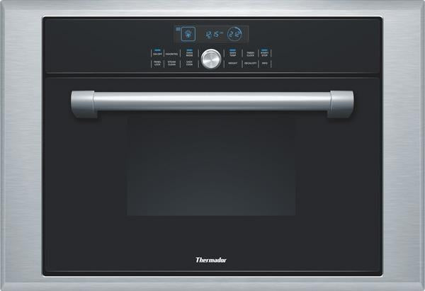 "Thermador 24"" 1.4 cu. ft Steam /Convection Wall Oven Black Single Oven MES301HP - Alabama Appliance"