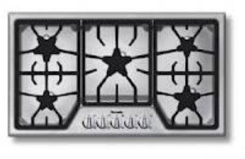 "NIB Thermador MasterPiece Series 36"" 5 Star Burners Natural Gas Cooktop SGS365FS - Alabama Appliance"