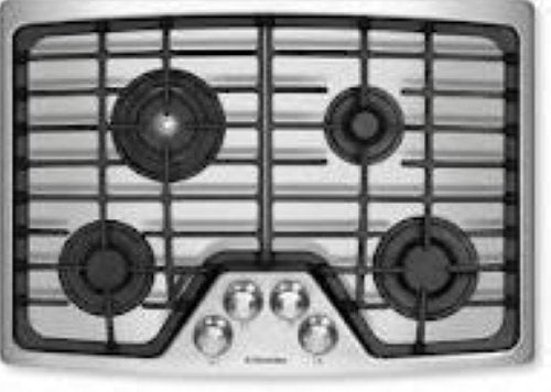"ELECTROLUX 30"" GAS COOKTOP EW30GC55GS SS Detailed Images - Alabama Appliance"
