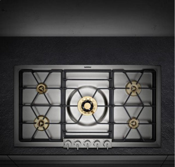 "Gaggenau 36"" Gas Cooktop with 5 Sealed Brass Burners VG295114CA imgs - Alabama Appliance"