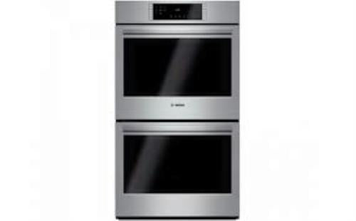 "Bosch 800 Series 30"" Double Electric Convection Wall Oven HBL8651UC Stainless"