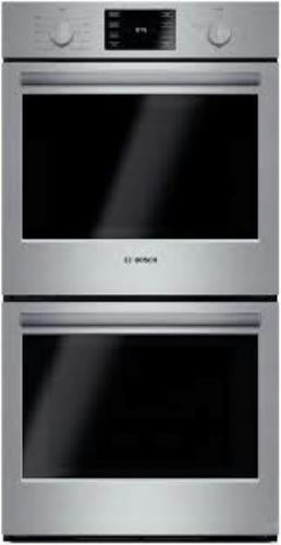 "Bosch 500 27"" SS European Convection Electric Double Oven HBN5651UC EXLNT - Alabama Appliance"