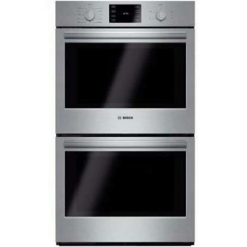 "Bosch 500 30"" European Convection Double Electric Wall Ovens HBL5651UC Stainless - Alabama Appliance"