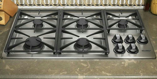 "Dacor Renaissance 36"" 5 Sealed Burners Liquid Propane Gas Cooktop RGC365SLP - Alabama Appliance"