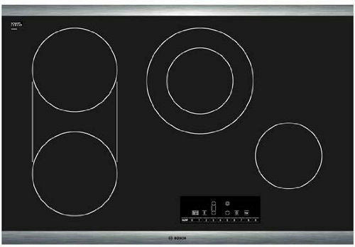 "NIB Bosch 800 Serie 30"" 4 Zone Heat Indicator Black Electric Cooktop NET8066SUC - Alabama Appliance"