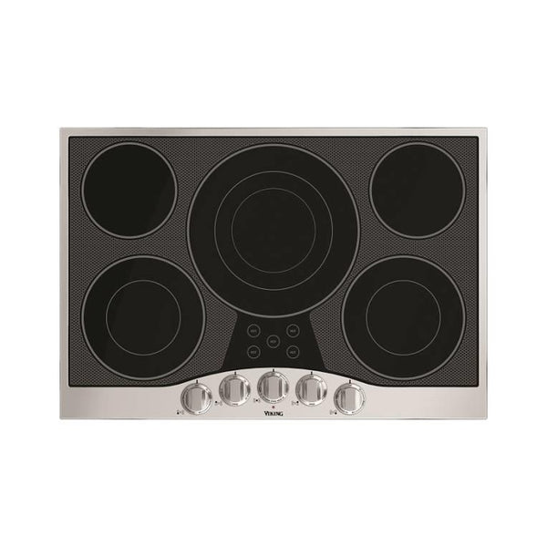 "Viking 30"" 5 Burners Electric Black Ceramic Glass Cooktop RVEC3305BSB Images - Alabama Appliance"