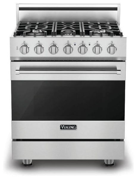 "Viking 30"" Convection Oven Freestanding Dual-Fuel Range, Naturel Gas RVDR3305BSS - Alabama Appliance"
