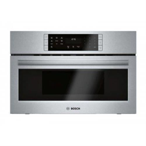 "Bosch 800 30"" 2-in-1 Built-In Stainless Covenction Microwave Oven HMC80252UC - Alabama Appliance"