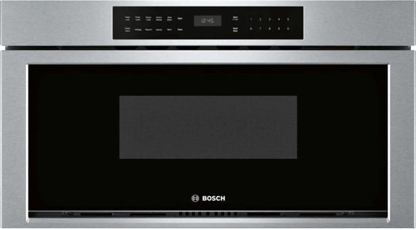 "Bosch 800 Series 30"" 1.2 cu.ft SS 950W Touch Control Microwave Drawer HMD8053UC - Alabama Appliance"