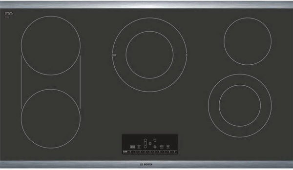 "Bosch 800 Series 36"" 5 Smoothtop Burners CleanLock Electric Cooktop NET8668SUC - Alabama Appliance"