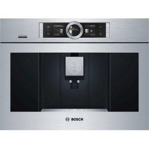 "Bosch 24"" 10 Brewing Modes Home Connect Flush Coffee Machine BCM8450UC Perfect - Alabama Appliance"
