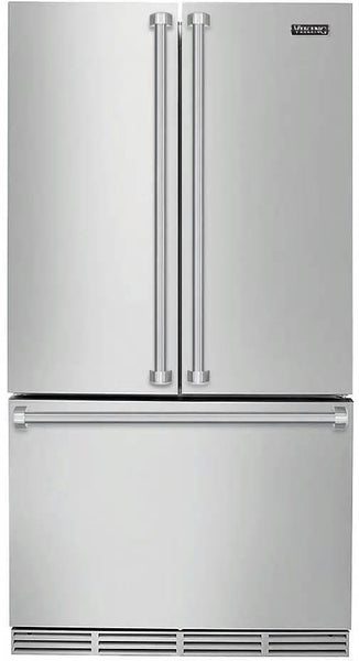 "Viking 3 Series 36"" Counter Depth Stainless French Door Refrigerator RVRF336SS"