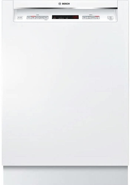 "Bosch 300 Series 24"" 3rd Rack Full Console White Dishwasher SHEM63W52N Perfect - Alabama Appliance"
