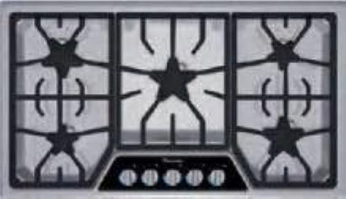 "NIB Thermador Masterpiece Series 36"" 5 Burner Stainless Gas Cooktop SGSL365KS - Alabama Appliance"