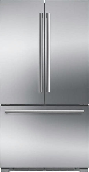 "Bosch 800 Series 36"" Counter Depth Fren. D Refrigerator B21CT80SNS Perfect Front - Alabama Appliance"