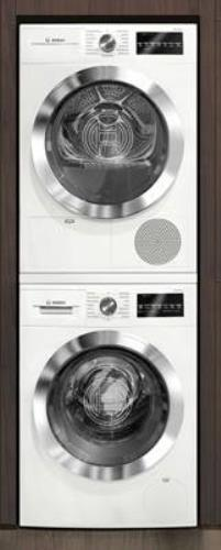 Bosch 800 Series White Chrome Washer + Dryer Set WAT28402UC / WTG86402UC - Alabama Appliance