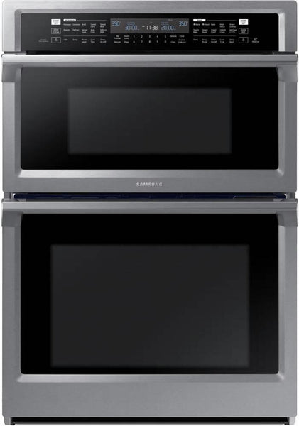Samsung G 30 Inch Dual Convection Combination Electric SS Wall Oven NQ70M6650DS - Alabama Appliance