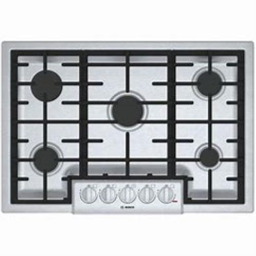 "Bosch 800 Series 30"" Stainless STAR-K 5 LED Sealed Burner Gas Cooktop NGM8056UC"