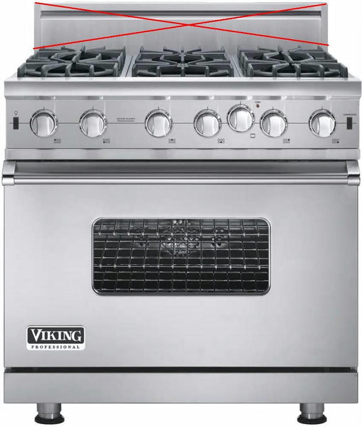 "Viking Professional 5 Series 36"" Pro-Style Convection Gas Range VGIC53616BSSLP - Alabama Appliance"