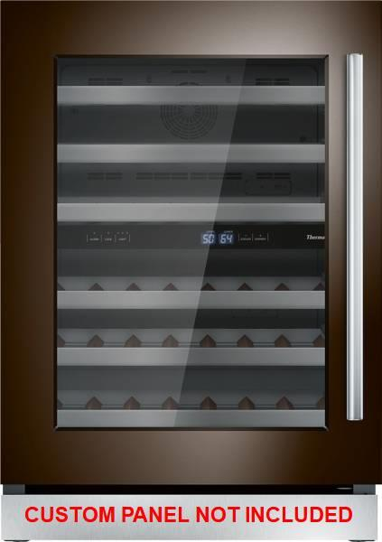 "Thermador 24"" Dual Zone Custom Panel Left-Hinge Wine Refrigerator T24UW900LP - Alabama Appliance"