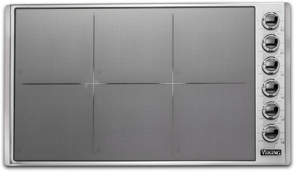 "Viking 36"" Magnequick LED Induction Ceramic Surface Cooktop VICU53616BST Images"