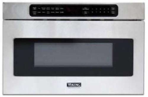 "Viking 24"" Undercounter DrawerMicro Microwave Oven VMOD5240SS Perfect Front"