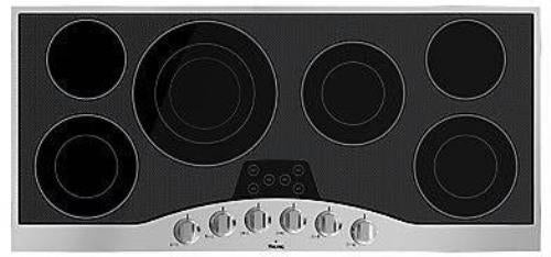 "Viking 45"" 6 burner Electric Black Glass Ceramic Surface Cooktop RVEC3456BSB - Alabama Appliance"