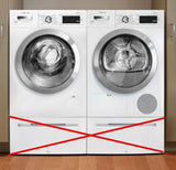 Bosch 800 Series WHT Wifi Capablitiy Washer + Dryer Set WAW285H2UC / WTG865H2UC - Alabama Appliance