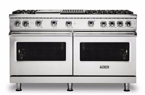 "Viking Professional 5 Series VGR5606GQSS 60"" Freestanding Gas Range Griddle Gril - Alabama Appliance"