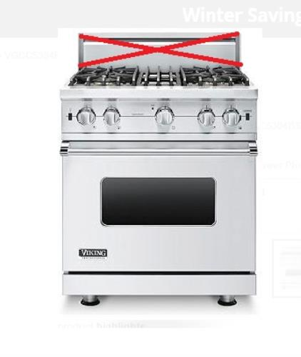 Viking Professional Custom Series VGCC5304BSS 30 Inches Pro-Style Gas Range - Alabama Appliance