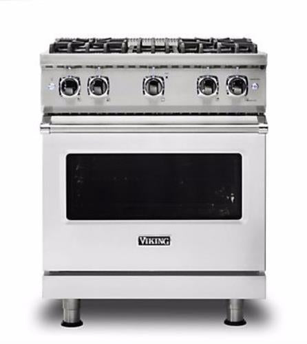 "Viking Professional 5 Series 30"" Freestanding Gas Range VGR5304BSSLP Stainless S - Alabama Appliance"