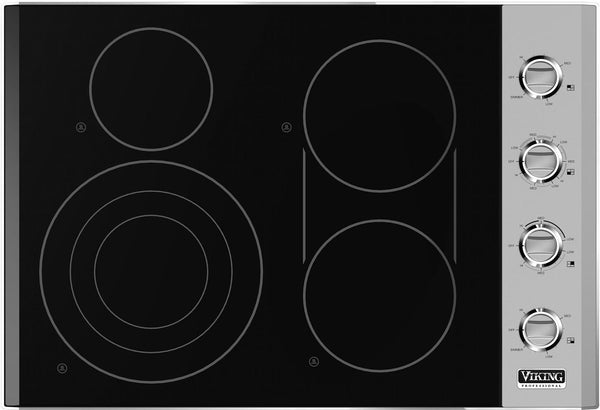 "Viking Professional 5 Series 30"" QuickCook Surface Elements Cooktop VECU5304BSB - Alabama Appliance"