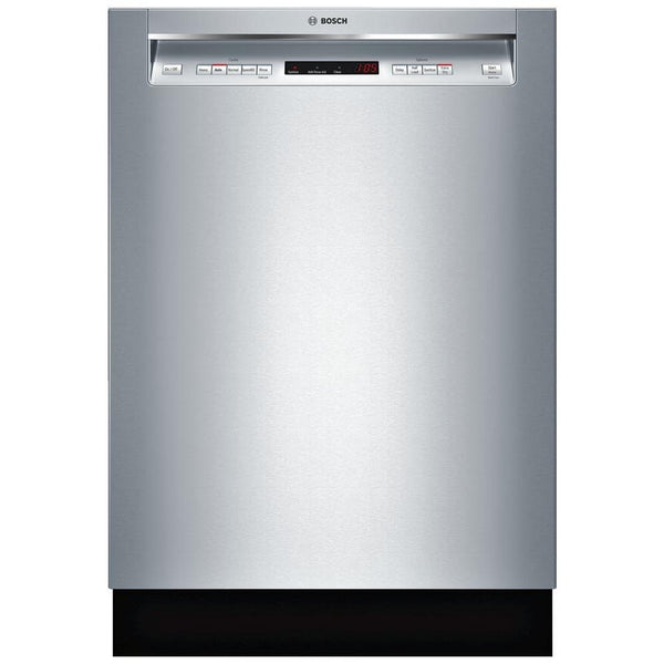 "Bosch 300 Series 24"" 3rd Rack  AquaStop Full Console Dishwasher SHEM63W55N Pics"