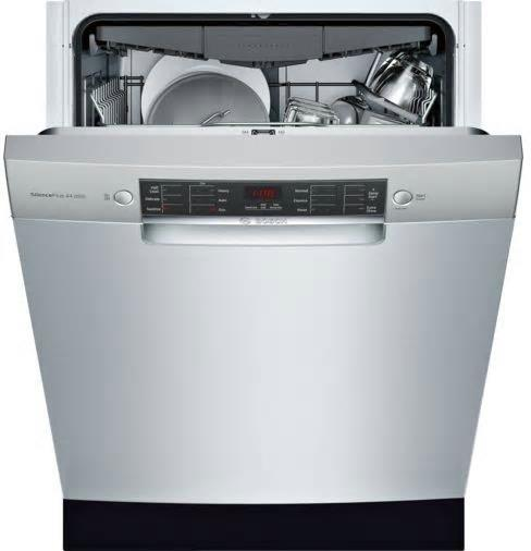 "Bosch 800 Series 24"" 44 dBA 15 Setting Full Console Dishwasher SGE68X55UC Images - Alabama Appliance"