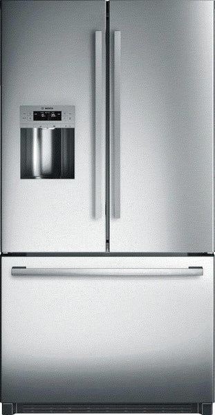 "Bosch 36"" Multi Cooling System French Door Refrigerator B26FT50SNS Perfect Front"