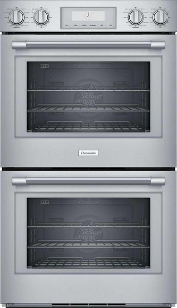 "Thermador Professional Series 30"" SoftClose Hinges SS Double Wall Oven PO302W - Alabama Appliance"
