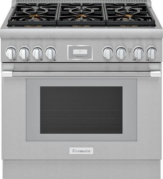 "Thermador Pro Harmony  Professional 36"" SS Smart Dual Fuel Range PRD366WHU - Alabama Appliance"
