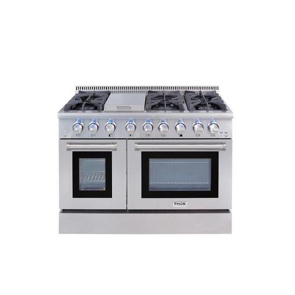 NIB Thor Kitchen 48 inch Professional Style 6 Burner SS Dual Fuel Range HRD4803U - Alabama Appliance