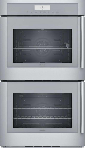 "Thermador 30"" Stainless Halogen Lights 16 Modes Wi-Fi Double Wall Oven MED302LWS - Alabama Appliance"