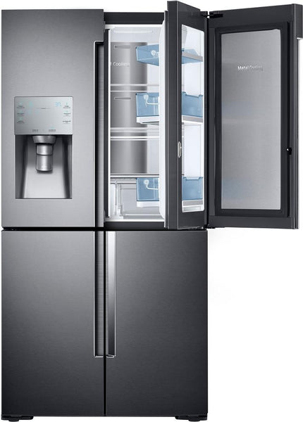 "Samsung RF28K9380SG 36"" 4-Door French Door Refrigerator 28 cu. ft. Capacity - Alabama Appliance"