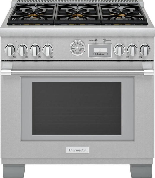 "Thermador Pro Grand 36"" Pro-Style Smart Freestanding Gas Range PRG366WG - Alabama Appliance"
