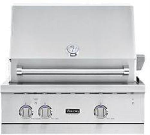"Viking Professional 5 Series 30"" Stainless Built-in LP Gas Grill VGBQ53024LSS - Alabama Appliance"