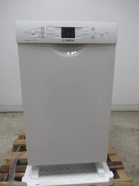 "Bosch 300 Series 18"" 4 Cycles 46 dBA White Full Console Dishwasher SPE53U52UC (local) - Alabama Appliance"