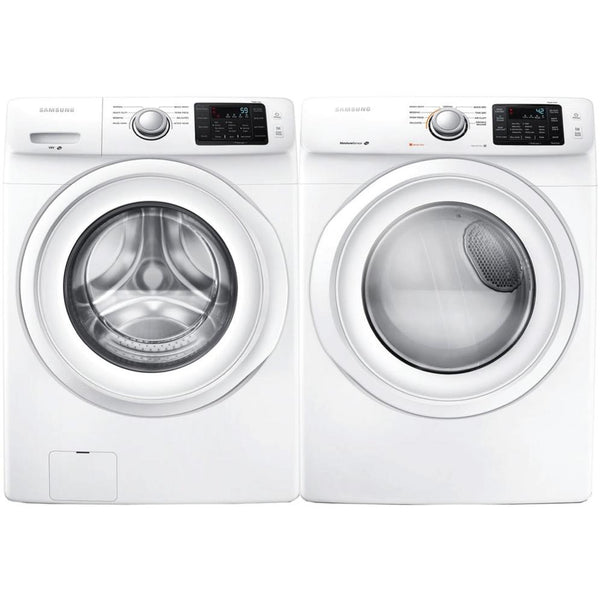 Samsung Electric White Front Load Washer & Dyer WF42H5000AW / DV42H5000EW Images
