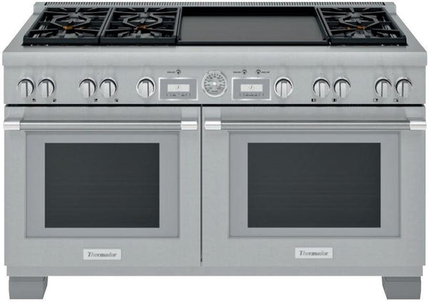 Thermador Pro Grand 60'' Home Connect SS Pro-Style Dual Fuel Range PRD606WEG - Alabama Appliance